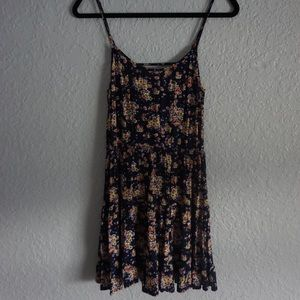 Flowy floral dress with open back